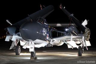 DeHavilland Sea Vixen FAW2 XP924/G-CVIX Fly Navy Heritage Trust RNAS Yeovilton 26/10/17 | by Shaun Schofield