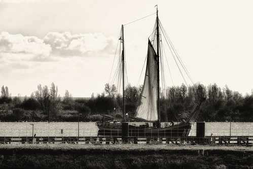 Old Ship Behind A Fence