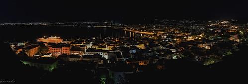 greece nauplio night panorama