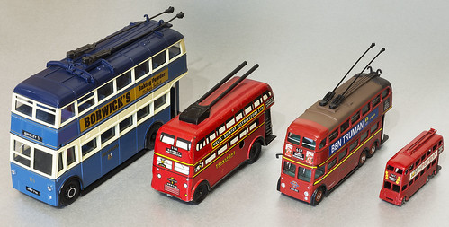 Trolleybus models through the years