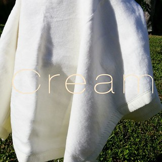 Blank Cream Baby Blanket Ready to Personalize | by Stitchcottage