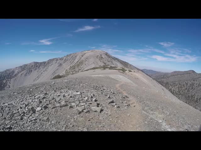 263 GoPro panorama video from the summit of Mount Harwood