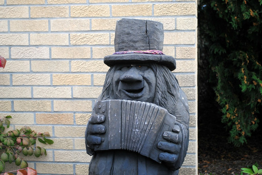 Accordian player troll in Mount Horeb, Wisconsin | Cragin