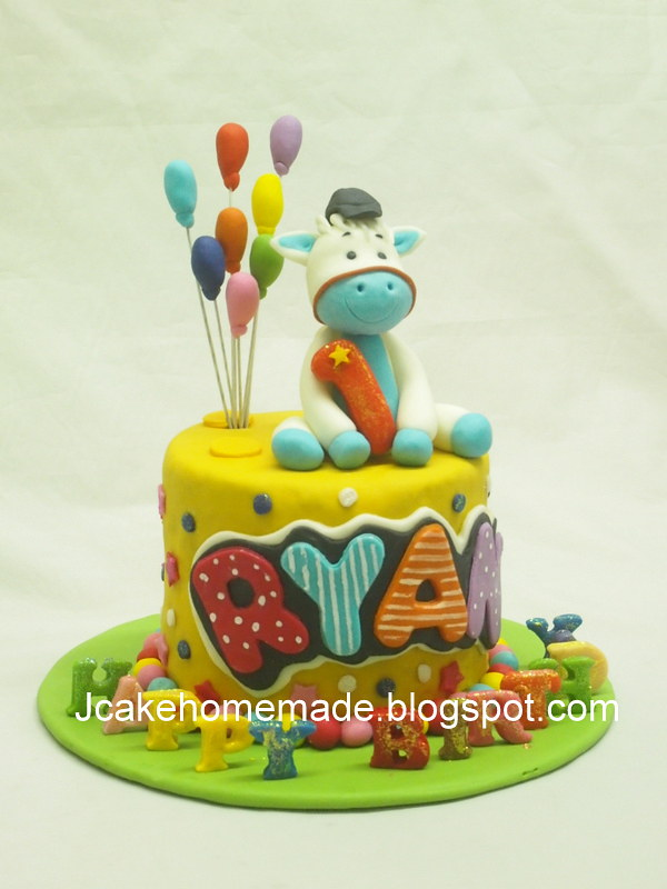 Pleasant Animals Birthday Cake Happy 1St Birthday Ryan Thanks Dalp Flickr Funny Birthday Cards Online Benoljebrpdamsfinfo
