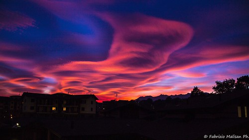 Red Sunset Cloud Formation