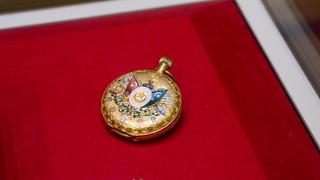 Egypt-Turkey flags on a golden pocket watch at Egypt's Royal Jewelry Museum | by Kodak Agfa