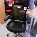 Curved high mesh bag exec chair with headrest E150