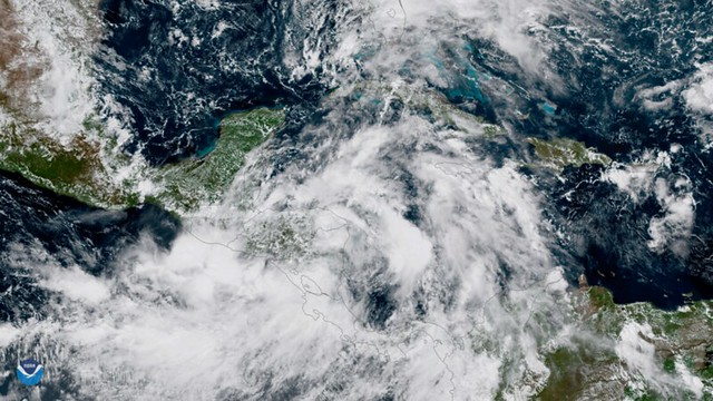 GOES-16 Captures Tropical Storm Nate over Nicaragua