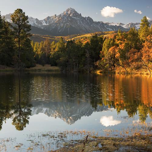 ridgway colorado fallfoliage fallcolors autumn pond stillness reflections