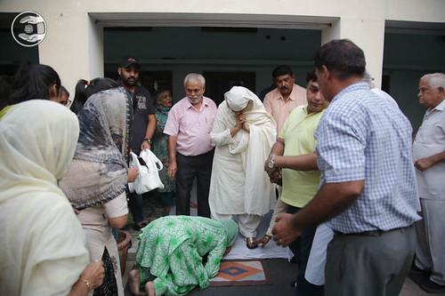 Devotees seeking blessings at Rajpura, Punjab