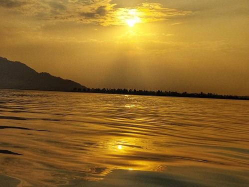 kashmir lake srinagar dallake sunset sun nature