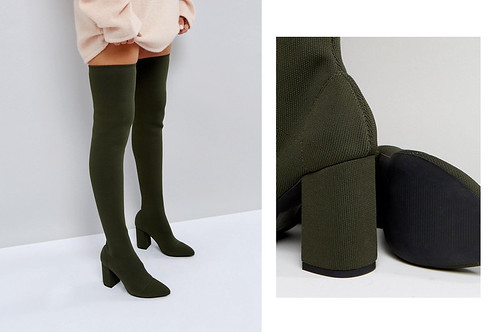 green-high-boots-tight-fashion-look-idea-fall-outfit-asos | by nikahuk