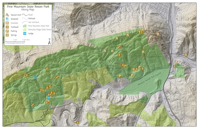 Pine Mountain SP Map
