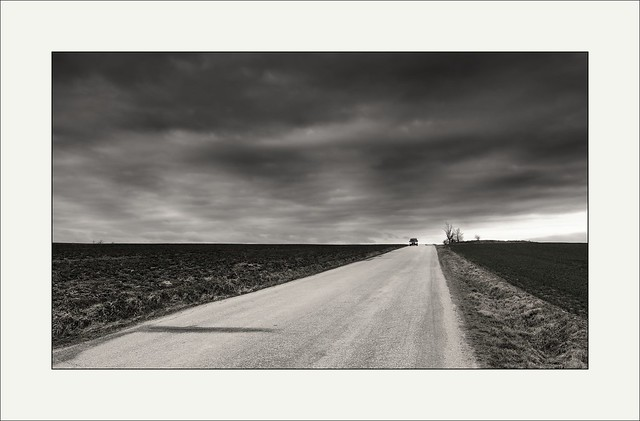 Car on the horizon