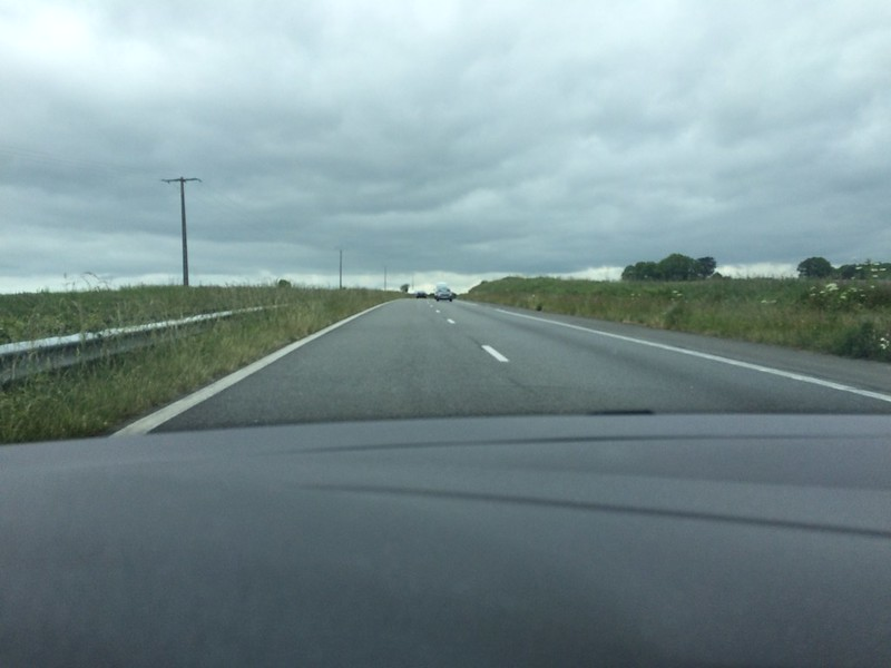 Matthias auf dem Rückweg nach Concarneau