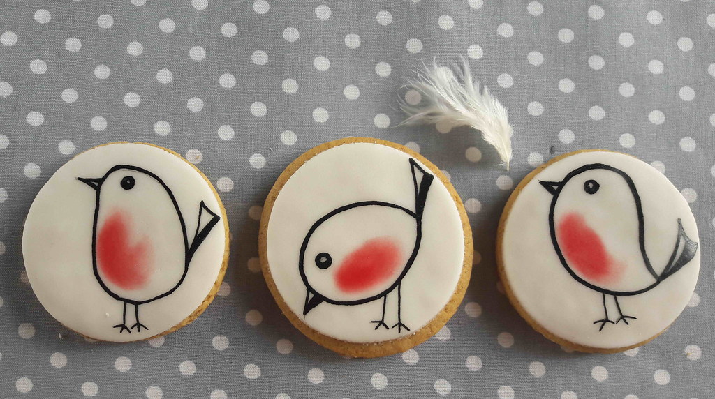 Christmas Cookies Painted Birds Bubolinkata Blogspot Bg Flickr