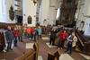 Marienkirche Rostock. Vorreformatorische Kunst des Mittelalters ist wegen des Bildersturms zur Zeit der Reformation nur in geringen Resten überliefert.