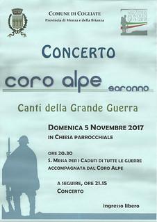 Locandina del Concerto | by Coro Alpe di Saronno
