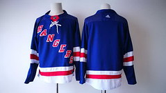 Men's New York Rangers Blank Royal Blue Home 2017-2018 Hockey Stitched NHL Jersey