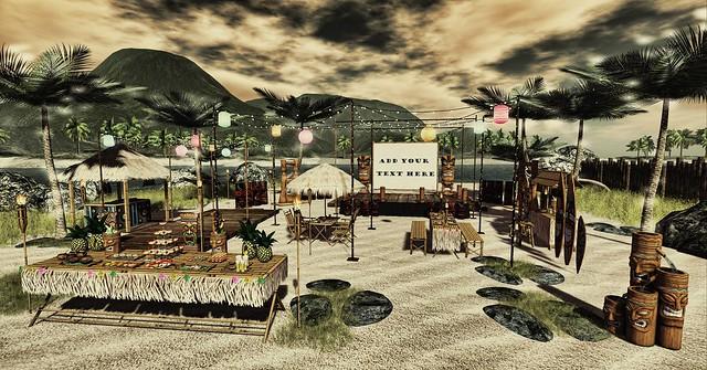 Aphrodite Tropical Wedding party & reception big set (bulk)