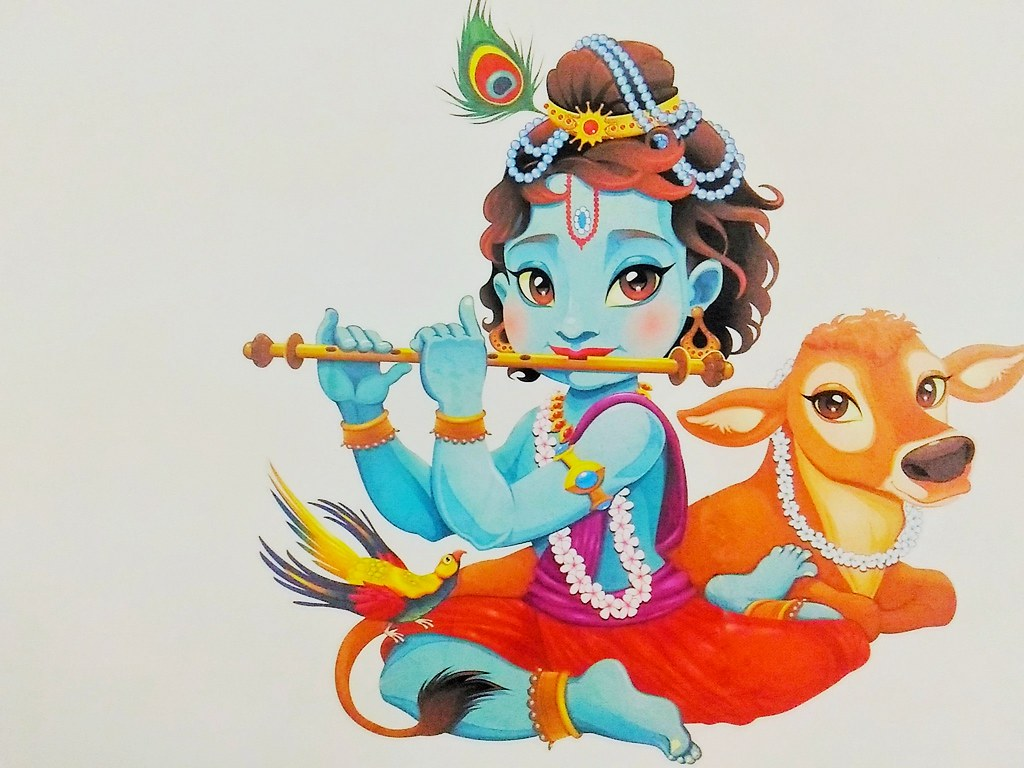 Lord Krishna Wallpaper Clicked This Wall Decor With My A