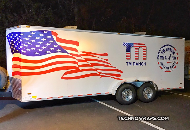 Vinyl trailer wrap designed & printed by TechnoWraps.com