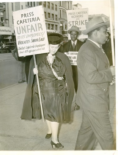 Lewis joins picket line at Press Cafeteria: 1940 | by Washington Area Spark
