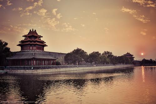 Gu Gong Palace Sunset