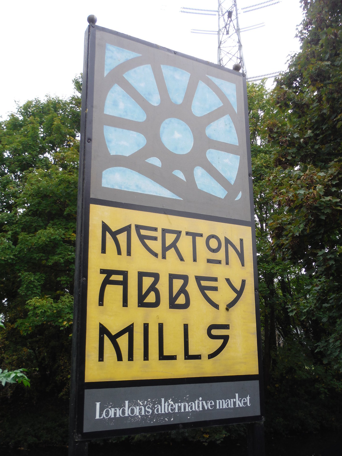 Merton Abbey Mills Sign SWC Walk Short 13 - Morden Hall Park and Merton Abbey Mills