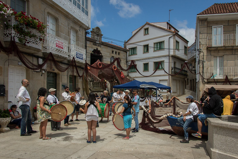 Music band in Muros, Galicia