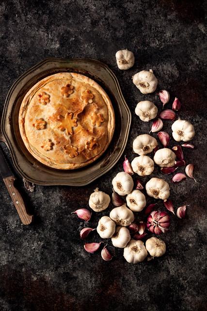 Medieval Garlic Tart