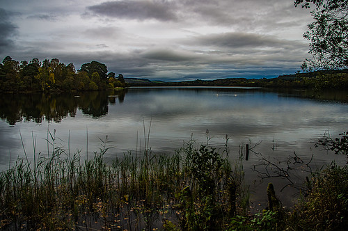 lochoflowes perthshire scotland sky cloud water reflection green pentaxkr pentax pentaxdal peaceful tranquil tranquility