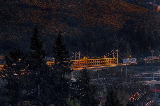 Puente ferroviario sobre el Río Cautín