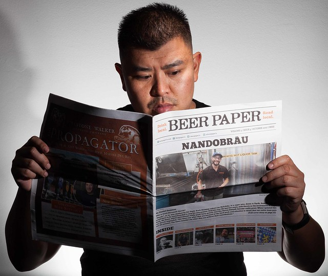 Reading the daily paper