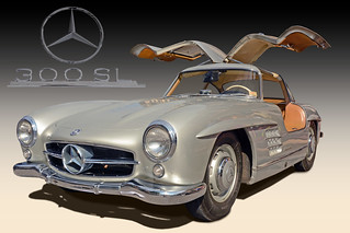 Fly Me to the Moon - 1955 Mercedes 300 SL Gullwing