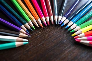Color pencils forming a semicircle | by wuestenigel