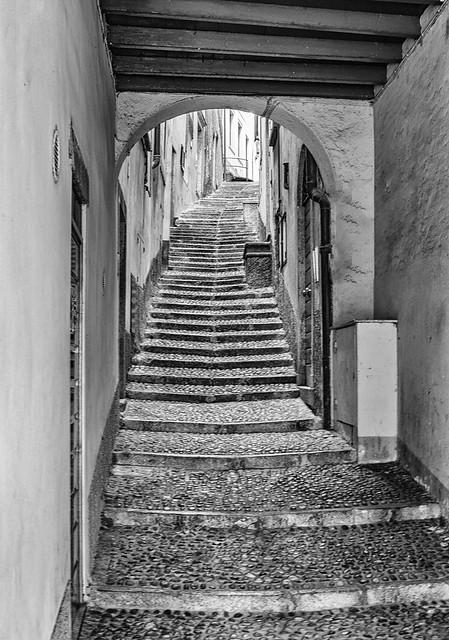 bellagio scalinata bw