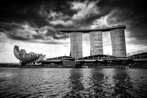 Marina Bay, Singapore / SML.20150128.6D.33824.BW1 | by See-ming Lee (SML)