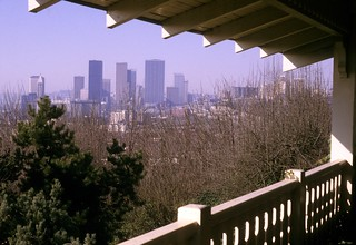 Skyline from from Black Mansion on Beacon Hill, circa 1980