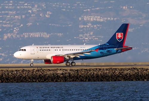 ombyk slovak government flying services republic airbus a319 acj19 san francisco sanfrancisco international airport sfo ksfo usa california ca john boulin