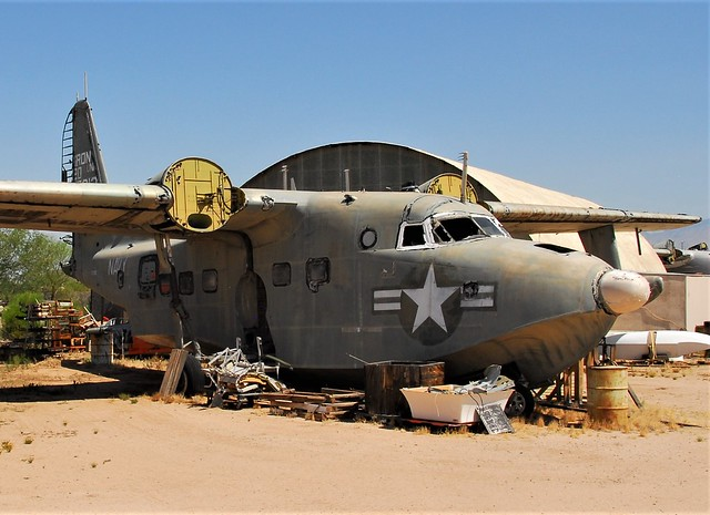 HU-16C Albatross 137912 ex Squadron FASRON-120 U.S.Navy (Stationed at NAS Iwakuni, Japan). Seen stored with Specialized Aircraft Maintenance, Tucson, Arizona. 04-06-2016.
