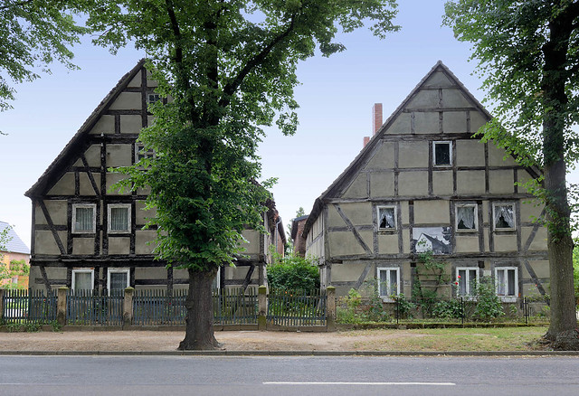 1524 Historische Architektur in der Blücherstasse von Wartenburg; leerstehende Gebäude - erbaut 1796.