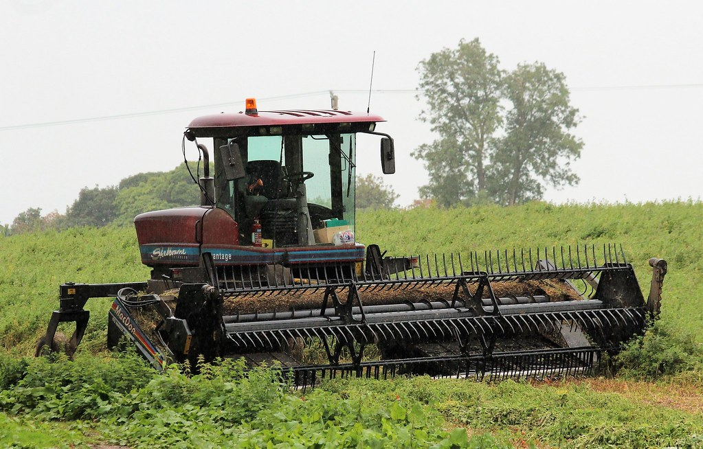Shelbourne Reynolds Advantage swather | Fitted with a MacDon… | Flickr