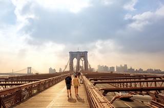 Morning walk with you | Brooklyn Bridge | by lianakatrina