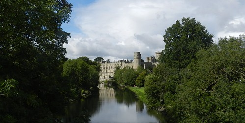 warwick castle england fortress tourist attraction major style class river avon trees shadows king william historic royal palace allanmaciver