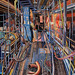 Gangway, Pastel on paper, 150x180cm
