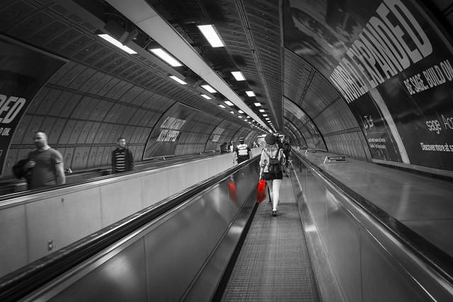 Red Bag, Moving Walkway, Waterloo