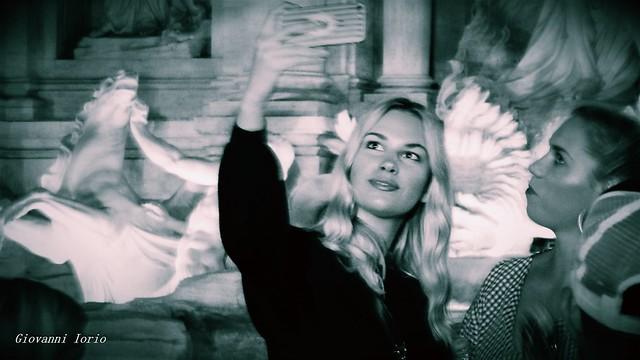 Selfie blond