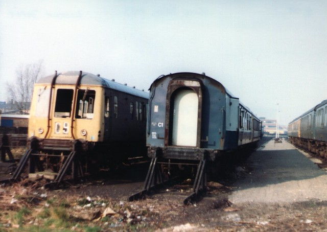 Withdrawn DMUs at Lincoln Depot
