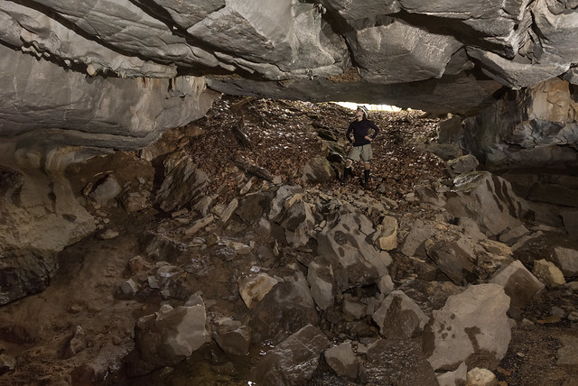 Rebecca Collard, twilight, Merrybranch Cave, White County, Tennessee